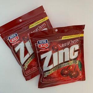 NEW (2 PKGS) Rite Aid Zinc Cold Relief Lozenges Natural Cherry 18/36 Cold-Eeze