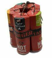 Dynamite Hot Chilli Sauce 5 Bottle Extreme Chillis Sauces Secret Gift Set