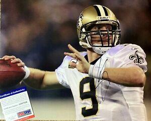 DREW BREES Autographed Signed 11x14 New Orleans Saints PHOTO PSA/DNA CERT NFL