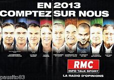 PUBLICITE ADVERTISING  116  2013  Radio RMC Sport (2p  Larqué Courbis