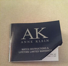 Anne Klein AK Watch Instructions Booklet For 6P05 / 6P25 / 6P27 / 6P29 / 6P89
