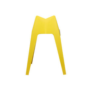 YELLOW SET OF 2 MODERN PLASTIC CHAIR