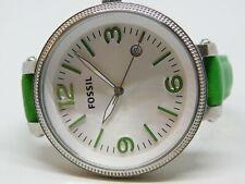 Fossil ES3278 Genuine Leather Quartz Analog Ladies Watch