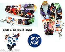 DC comics New 52 JUSTICE LEAGUE of America Lanyard Neck Strap Keychain ID Badge