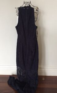 Rodeo Show Madrid Maxi Lace Dress, Midnight Color, Bnwt $399
