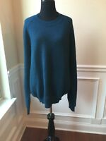 Peruvian Connection 100% Alpaca Wool Long Sleeves Crew Neck Teal Sweater XL