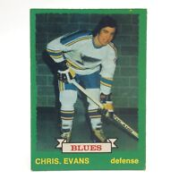 1973 74 OPC O Pee Chee Chris. Evans 208 St Louis Blues Hockey Card E658