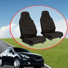 2pcs Car Van Seat Covers Waterproof Nylon Front Heavy Duty Black Protectors