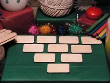 RECTANGLE Shape Craft Blank 5.1x3.2cm BIRCH Wood Plaque Sign Pyrography
