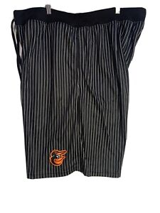 Baltimore Orioles Shorts 3XL Black Pinstripe Logo MLB Baseball Train Mens