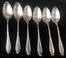 Matching Set 6 Antique 800 Russian Silver Spoons Hallmarked L. Jamin
