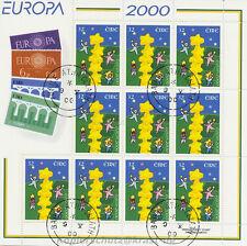EUROPA CEPT 2000 STERNENTURM - IRLAND IRELAND 1223 KLEINBOGEN gestempelt