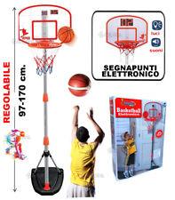 Panier Basket-Ball Lampadaire Et Panneau Réglable Score Électronique Et Balle