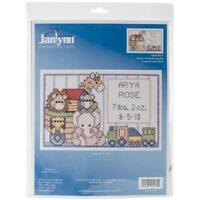 "Janlynn Mini Counted Cross Stitch Kit 6""x4""-noah's Ark Birth Sampler (14 Count)"