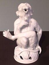 Potschappel Dresden Räucheraffe Porzellanfigur
