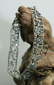 Vintage Modernist 60er danish Armband bracelet 800 Silber Meisterpunze
