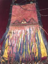 Ancien Sac Touareg cuir berbère Maroc antique bag lether Afrique art populaire