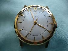 MEN'S ROLEX DRESS WRISTWATCH 1950'S CLASSIC, VINTAGE, 14k YELLOW GOLD BEAUTIFUL!