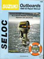 1988-03 SELOC SUZUKI ALL 2-225 HP  SERVICE MANUAL NEW