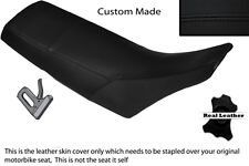 BLACK STITCH CUSTOM FITS YAMAHA TW 125 200 LEATHER DUAL SEAT COVER