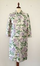 Dolce&Gabbana Floral Print Silk Two-Piece Knee Length Skirt Suit Size 40