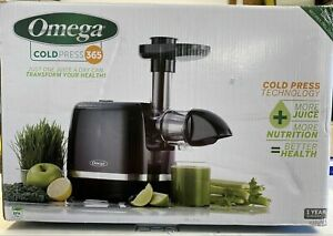 New Omega H3000D Cold Press 365 Horizontal Slow Juicer Extractor Black