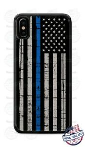 American Blue Thin Line Flag Phone Case For iPhone i11 Samsung Note 20 LG Google
