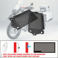 Pair Black Radiator Guard Protector Grille Cover For BMW R1200GS Adventure 13-18