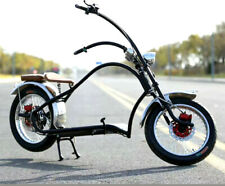 60V Electric Fat Tire Scooter Chopper / Harley Design Beach Cruiser Bike Bicycle