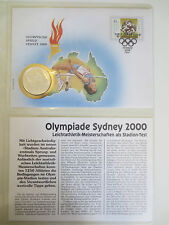 Australia numisbrief 1998-Sydney 2000 -250 won corea 1997, plata, 999 15 talla
