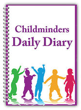 AN A5 DIARY EYFS CHILDCARE PROVIDER/CHILDMINDERS DAILY DIARY