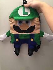 Nintendo Mario Bros Luigi Homemade Plush Backpack Stylish With Designs On Back