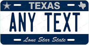 Custom TEXAS License Plate Tag Personalized for Wall Car Bicycle ATV Bike Moped