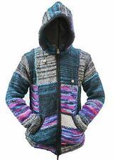 Men's Woolen Patchwork Camping Warm Jacket Fleecey Winter Jumper