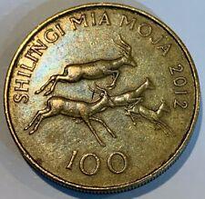 2012 Tanzania 100 Shilingi Four Impalas Coin