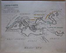 1845 IMPERO ROMANO D'ORIENTE Marmocchi bizantino Eastern Roman Empire Byzantine