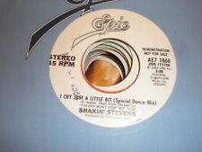 Shakin Stevens 45 I Cry Just A LIttle Bit EPIC PROMO