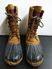 MENS Coleman Brown Waterproof rugged Duck boots SIZE 10 STEEL SHANK