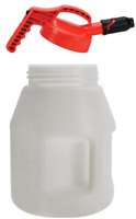 """Oil Safe Container Drum for Oil 10 Litre With 1"""" Stumpy Pourer Spout  Red"""