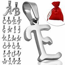 1 colgante letra alfabeto nombre mujer hombre acero inoxidable bolsa de regalo