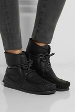 Isabel Marant Flavie Black Suede Velvet Arapaho Moccasin Ankle Boots 38 8  $555