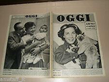OGGI=1956/49=ALIDA VALLI=PIER MARIA ROSSO=GUIDO CANTELLI=MARIA CALLAS TEBALDI=