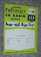 SAMS PHOTOFACT CB RADIO SERIES  VOLUME #113 MARCH 1977 GRANADA KRACO SBE XTAL
