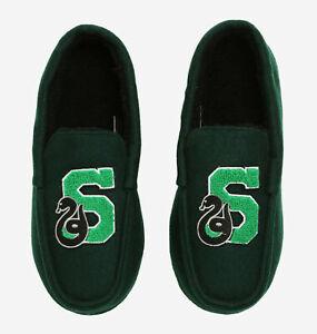 New Men's Harry Potter Slytherin Moccasin Slippers S