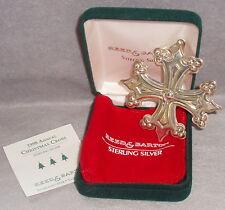 MIB 1998 Reed Barton 28th Annual Sterling Slver Christmas Cross Ornament Pendant