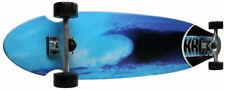 Krown Complete KICK TAIL LONGBOARD Skateboard BLUE WAVE
