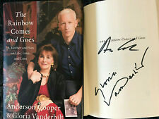 SIGNED ANDERSON COOPER & GLORIA VANDERBILT*The Rainbow Comes and Goes 1ST/1ST