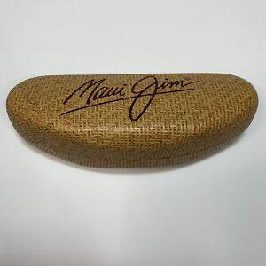 Maui Jim Hard Glasses Case Sunglasses Clam Shell Basket Weave Style Small