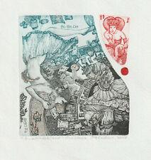 """Ex libris Exlibris """"Womderland"""" by MELNIKOVA ANASTASIA / Ukr."""