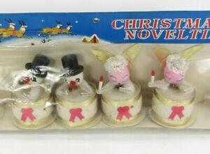 Vintage Christmas Novelties Decoration Ornaments Drum Snowman Angel Japan